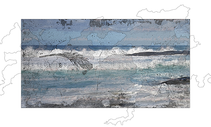 Collagraph and archival pigment print 30 x 50cm